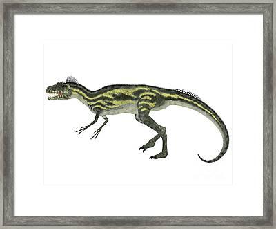 Deltadromeus Side Profile Framed Print