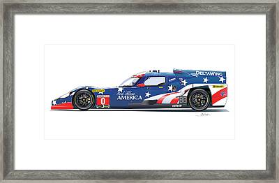 Deltawing Le Mans Racer Illustration Framed Print by Alain Jamar