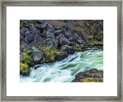 Deluge At The Falls Framed Print by Nancy Marie Ricketts