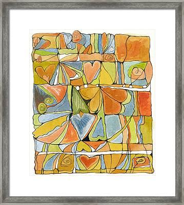 Delusions Of The Heart Framed Print by Linda Kay Thomas