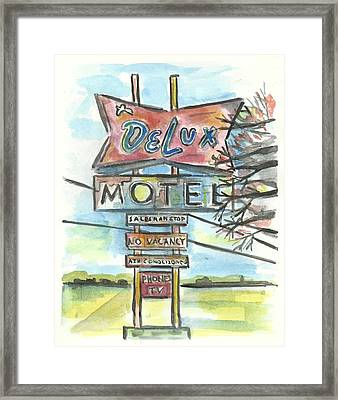 Delux Motel Framed Print by Matt Gaudian