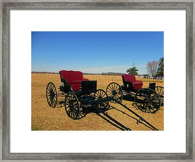 Deluxe Model Buggy Framed Print by Tina M Wenger