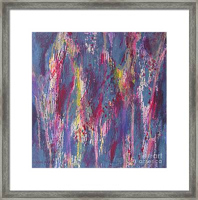 Framed Print featuring the painting Delve Deep 2 by Mini Arora
