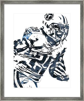Framed Print featuring the mixed media Demarco Murray Tennessee Titans Pixel Art 2 by Joe Hamilton