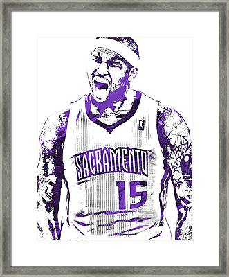 Demarcus Cousins Sacramento Kings Pixel Art 2 Framed Print