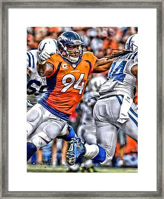 Demarcus Ware Broncos Art Framed Print