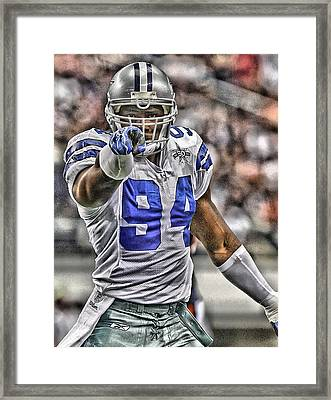 Demarcus Ware Cowboys Art 3 Framed Print