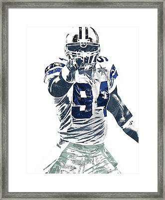 Demarcus Ware Dallas Cowboys Pixel Art Framed Print by Joe Hamilton