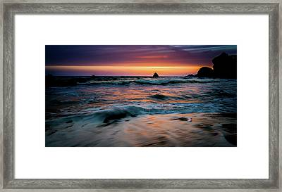 Demartin Beach Sunset Framed Print by TL Mair