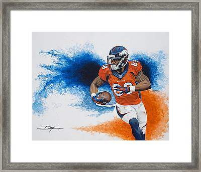 Demaryius Thomas Framed Print by Don Medina