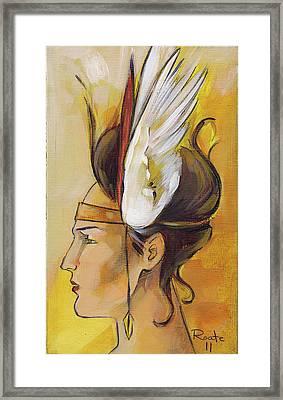 Demi-goddess Left Framed Print by Jacque Hudson