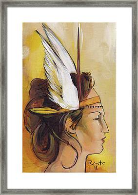 Demi-goddess Right Framed Print by Jacque Hudson