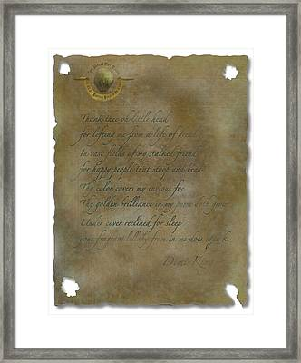 Demi King's Love Poem Framed Print