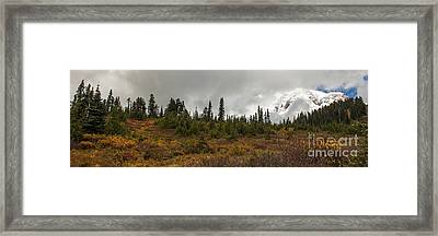 Mt. Rainier - Head In The Clouds Framed Print