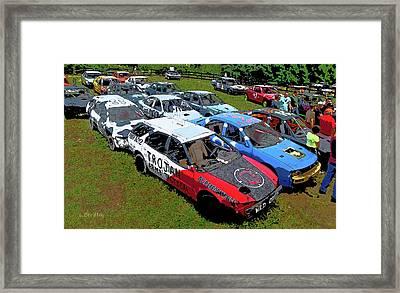 Demo Derby Car Framed Print