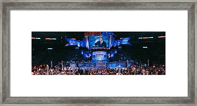 Democratic Convention At Staples Framed Print