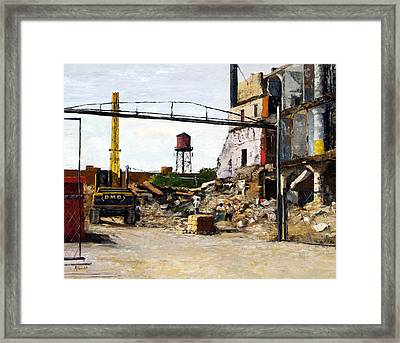 Demolition 4  Framed Print by Nancy Albrecht