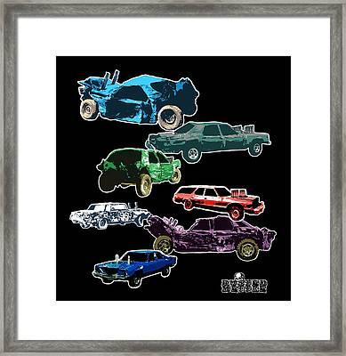 Demolition Derby Cars Framed Print