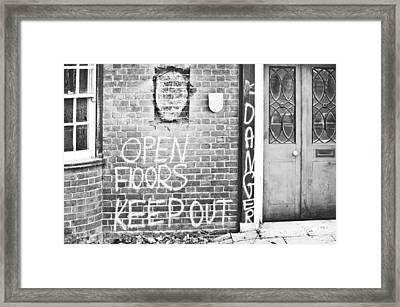 Demolition Site Framed Print