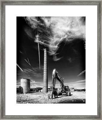 Framed Print featuring the photograph Demolition Sky by Alan Raasch