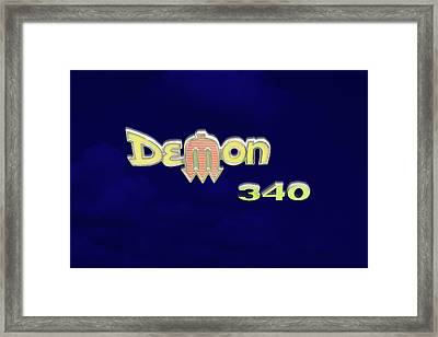 Framed Print featuring the photograph Demon 340 Emblem by Mike McGlothlen