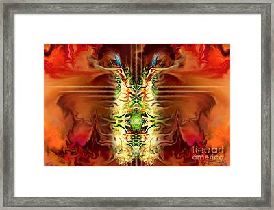 Demon Column By Spano Framed Print