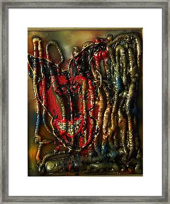 Framed Print featuring the painting Demon Inside by Lisa Piper