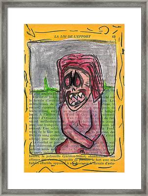 Demon Mona Lisa Framed Print by Jera Sky