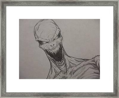 Demon Zombie Framed Print by John Prestipino