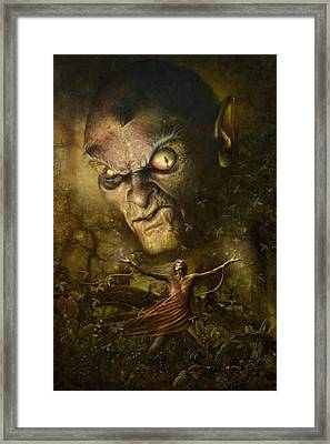 Demonic Evocation Framed Print
