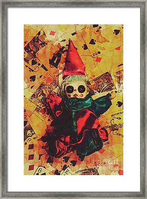 Demonic Possessed Joker Doll Framed Print by Jorgo Photography - Wall Art Gallery