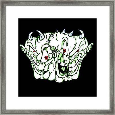Demons Past Framed Print by Dan Fluet