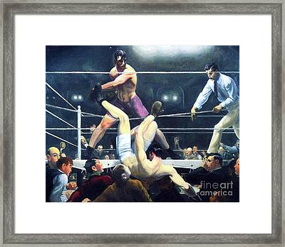 Dempsey And Firpo Framed Print by Pg Reproductions