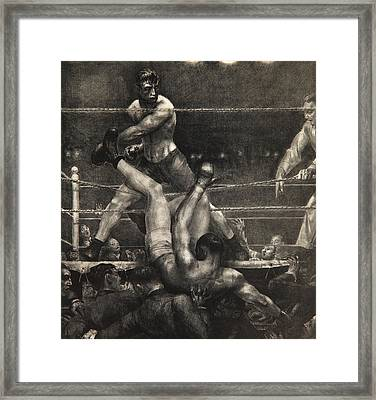 Dempsey Through The Ropes Framed Print by George Wesley Bellows
