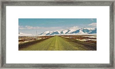 Dempster Highway - Yukon Framed Print by Juergen Weiss