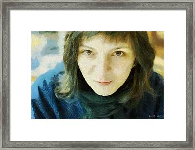 Demure Framed Print by Jeff Kolker