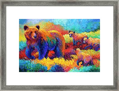 Denali Family Framed Print by Marion Rose