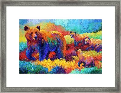 Denali Family Framed Print