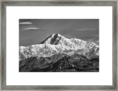 Denali Grey Framed Print by Ed Boudreau