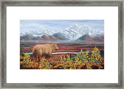Denali Highway Visitor Framed Print by Dee Carpenter