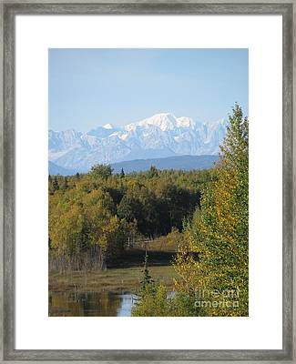 Denali In The Distance Framed Print