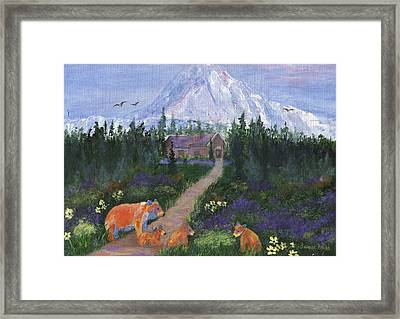 Framed Print featuring the painting Denali by Jamie Frier