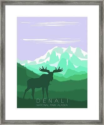 Denali National Park 4 - By Diana Van Framed Print