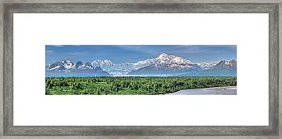 Denali Panorama Framed Print