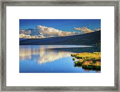 Denali Reflections Framed Print by Rick Berk