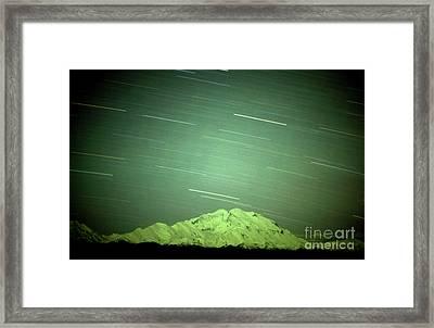 Denali Star Trails And Aurora Framed Print