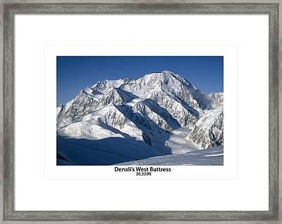 Denali West Buttress Framed Print by Alasdair Turner