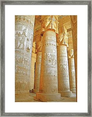 Dendera Temple Framed Print by Nigel Fletcher-Jones
