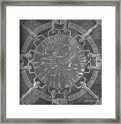 Dendera Zodiac Framed Print