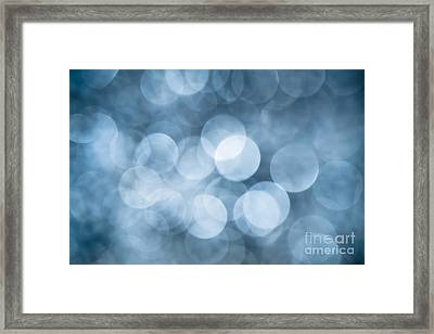 Framed Print featuring the photograph Denim Blue Bokeh by Jan Bickerton